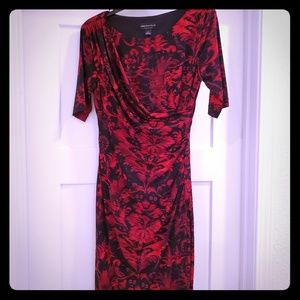 Short Sleeved Rouched Dress